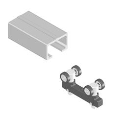 Profile liniare de ghidare 55 mm, carucioare si accesorii