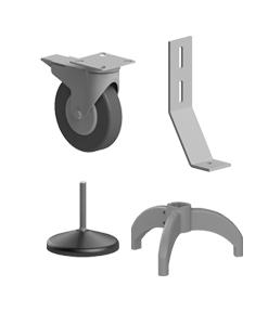 Elemente de fixare, suporti si roti pentru profilele din aluminiu tip BH
