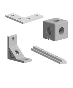 Prinderi in unghi sau drept pentru profilele aluminiu tip BH