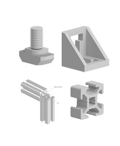 Profile aluminiu tip BH si accesorii