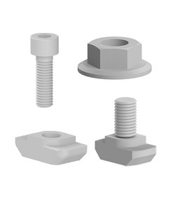 Suruburi si piulite pentru accesoriile profilelor tip BH